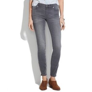 Madewell | Skinny Skinny Ankle Gray Jeans